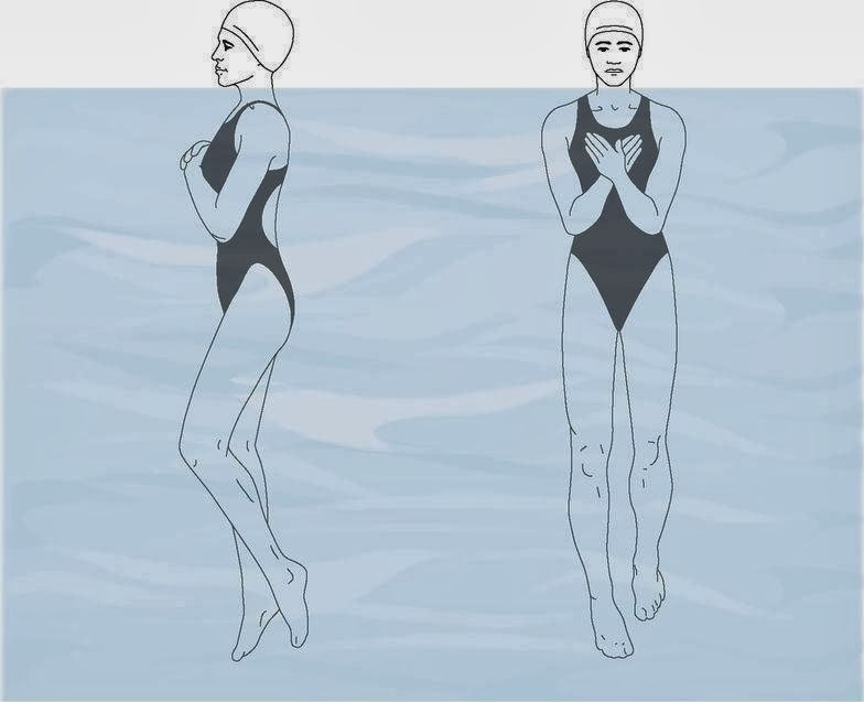 Vertical Kicking (swimming drill)